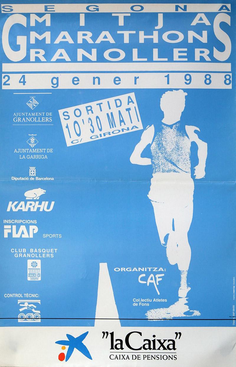 cartell la mitja 1988
